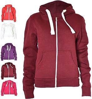 Urban Womens Pull String Zip Hoodies Sweaters US 14, HOT PINK