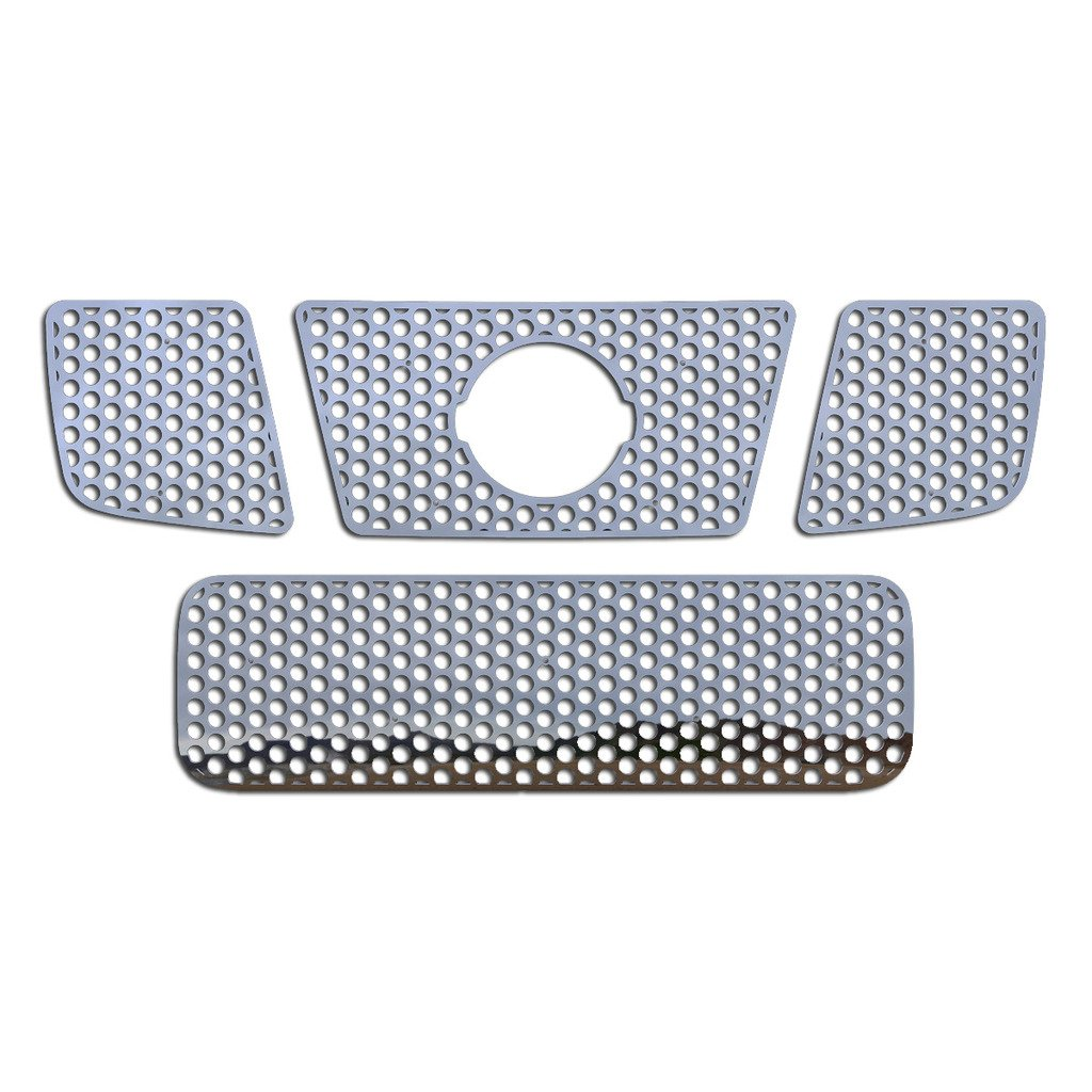 Ferreus Industries Grille Insert Guard Circle Punch Polished Stainless fits 2004-2007 Nissan Armada TRK-133-03-Chrome-a