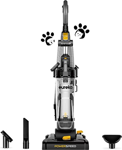 Eureka PowerSpeed Bagless Upright Vacuum Cleaner, Pet, NEU181, Black