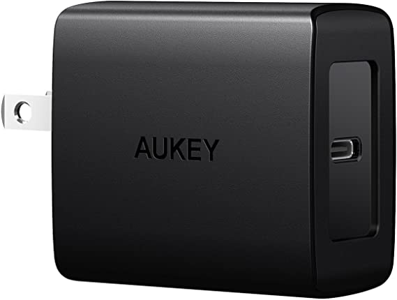AUKEY USB C Charger with Power Delivery 3.0 18W USB C Wall Charger, Compatible with iPhone 11/11 Pro/Max, AirPods Pro, Google Pixel 2/2 XL, Samsung ...
