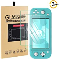 [3 Pack] Screen Protector Compatible with Nintendo Switch Lite 2019, Reayou Premium Clear Tempered Glass Screen Protector for Nintendo Switch Lite (2019) Scratch-Resistant Anti-Bubble Film