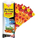 Zero In Window Fly Trap (Easy Set-Up Angled Insect Trap, Fits Into Window Corners, Effective for up to 4 Months) - Pack of 3