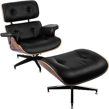 Longue Fauteuil SucceBuy Fauteuil Lounge avec Repose-Pieds 7 Couches De Placage Chaise Longue Capacit/é De 330lbs Chaise avec Pied