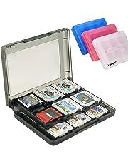 Boîte de Rangement Jeux Nintendo Etui de Rangement en Plastique Antichoc Anti-rayures Anti-poussières 22 Emplacements pour les Carte de Jeux Nintendo 3DS / 3DS / Dsi / Dsi XL / Dsi LL/ DS / DS Lite(Noir)