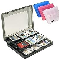 Luniquz Boîte de Rangement Jeux Nintendo Etui de Rangement en Plastique Antichoc Anti-rayures Anti-poussières 22 Emplacements pour les Carte de Jeux Nintendo 3DS / 3DS / Dsi / Dsi XL / Dsi LL/ DS / DS Lite(Noir)