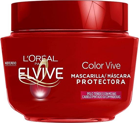 LOreal Paris Elvive Color Vive Mascarilla Protectora, para ...