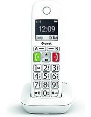 Gigaset E290 - Teléfono Inalámbrico con Teclas Grandes y Pantalla de Alta Visibilidad, Manos Libres, Compatible con audifonos