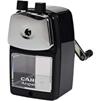 Carl Angel-5 Manual Pencil Sharpener with Metal Table Mount. Quiet for the Classroom, Home & Office, Black (CUI19018)