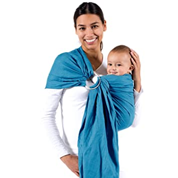 Amazon Com Beco Ring Sling Baby Carrier Ocean Natural Wrap For