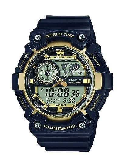 3394e6bca4c8 Casio Reloj Analógico-Digital para Hombre de Cuarzo con Correa en Resina AEQ-200W-9AVEF   Amazon.es  Relojes