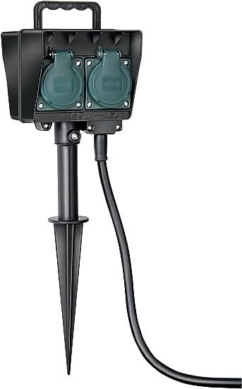 Gartensteckdose 4-fach Verlängerung 5m 10m Außensteckdose Verteiler Beleuchtung