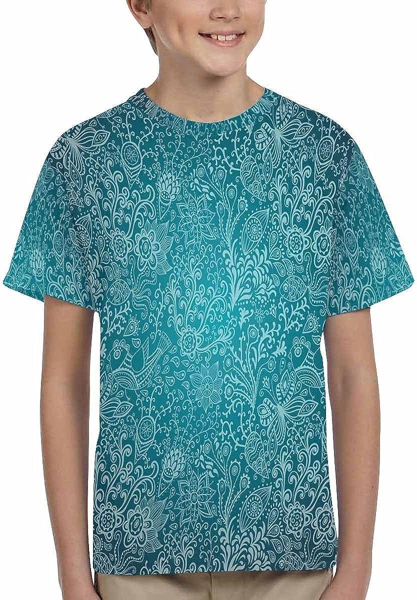 INTERESTPRINT Flowers Kids T-Shirt XS-XL