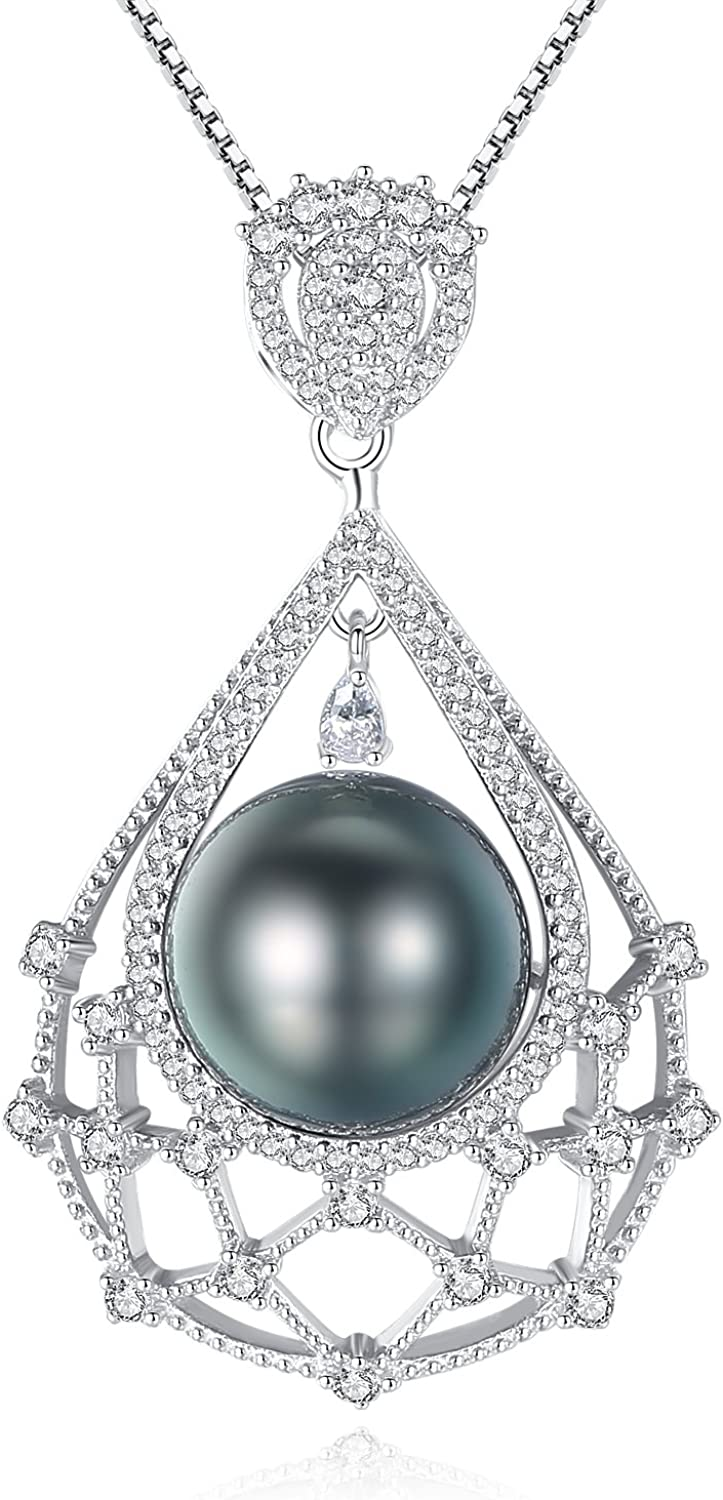 """925 Silver Peacock Freshwater Cultured Pearls /""""Y/"""" Necklace"""