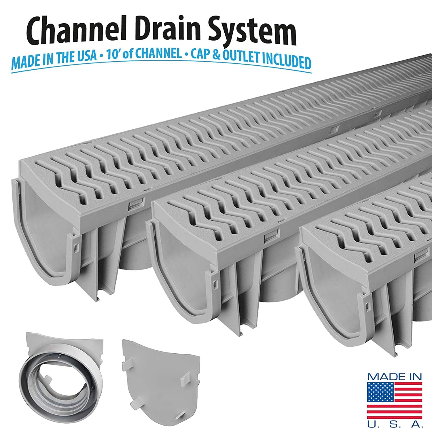 Source 1 Drainage 3 Pack Trench & Driveway Channel Drain System
