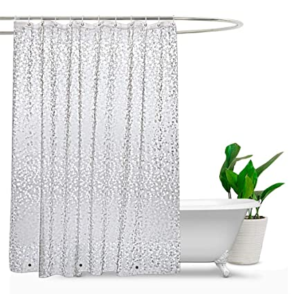 Amazon Com Extra Long Shower Curtain Liner 84 Inches Long Mildew
