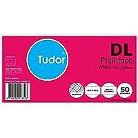 Tudor Envelope DL 110x220 White Peel and Seal Secretive Wallet Envelopes Pack 50 Retail Pack, (140073)