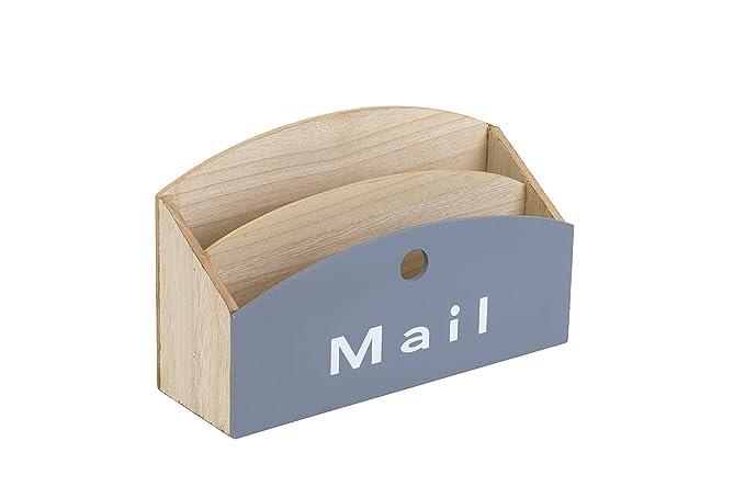 Amazon.com: 10 Street Home Wood Desktop Mail Organizer with ...