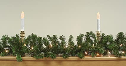 9 x 10 pre lit two tone pine artificial christmas garland