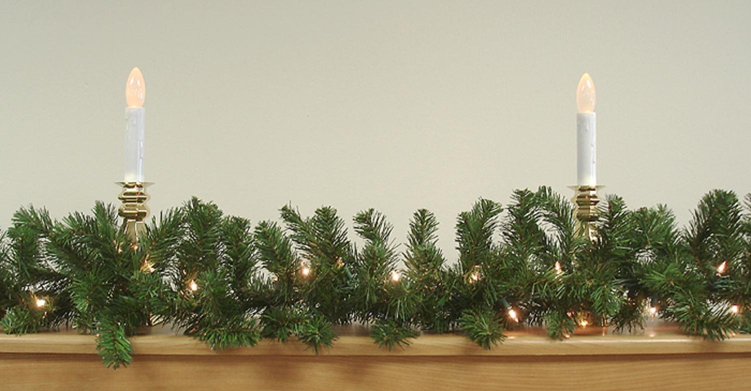 9' x 10'' Pre-Lit Two-Tone Pine Artificial Christmas Garland - Clear Lights