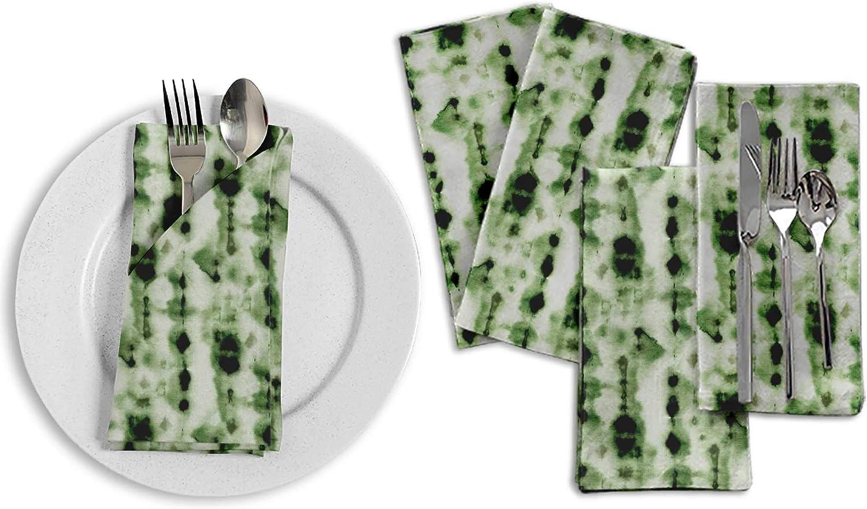 S4Sassy Violet Hombre tie-Dye Serviette de Table r/éutilisable en Lin 18 x 18 Paquet de 4
