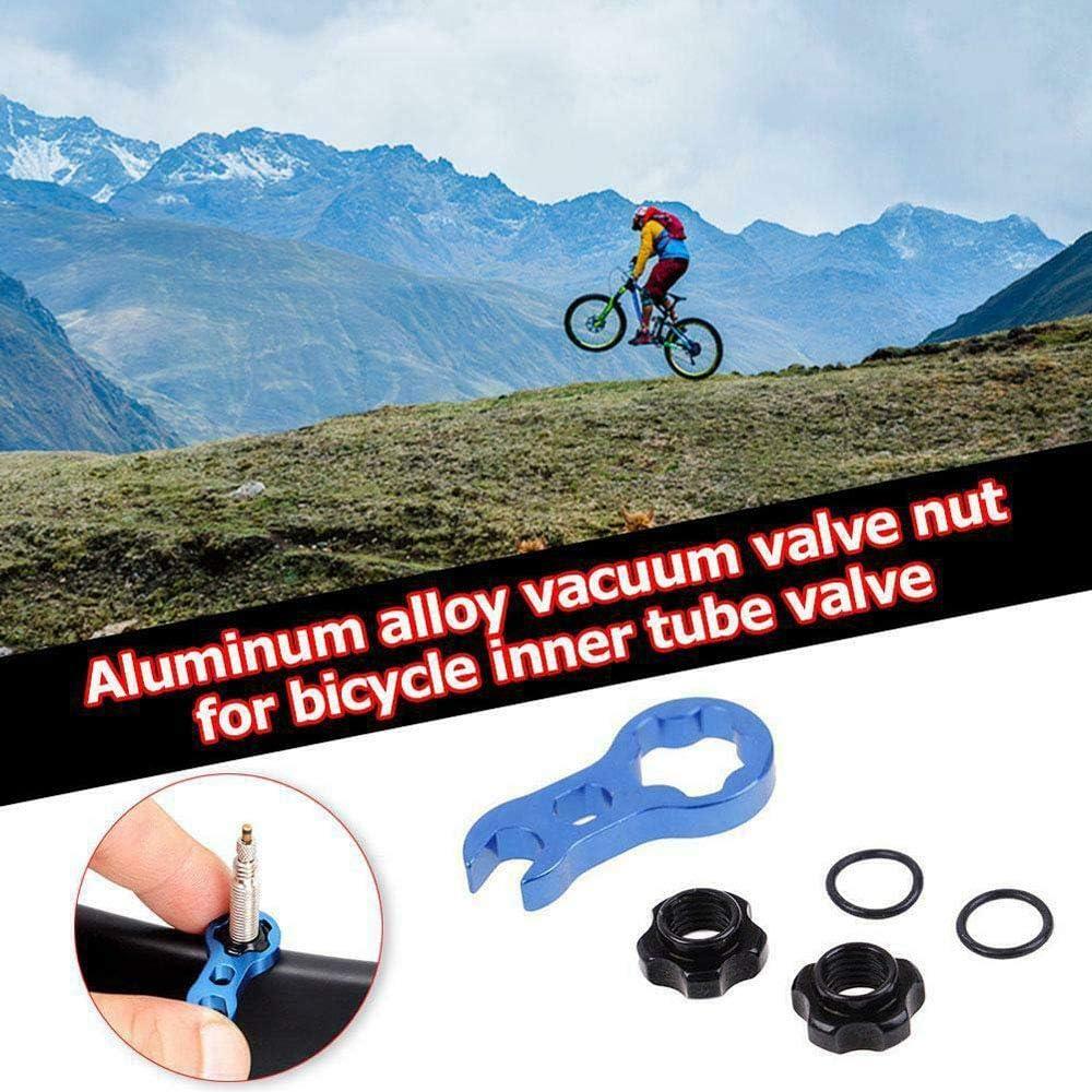 V/álvula MTB Tuerca Fija Arandela zhuangyulin6 Tuerca de v/álvula Presta de Bicicleta con Herramienta Neum/áticos de vac/ío para Bicicleta de Carretera Herramientas de reparaci/ón de Tubo Interior