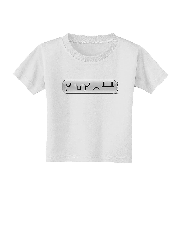 TooLoud Table Flip Text Bubble Toddler T-Shirt
