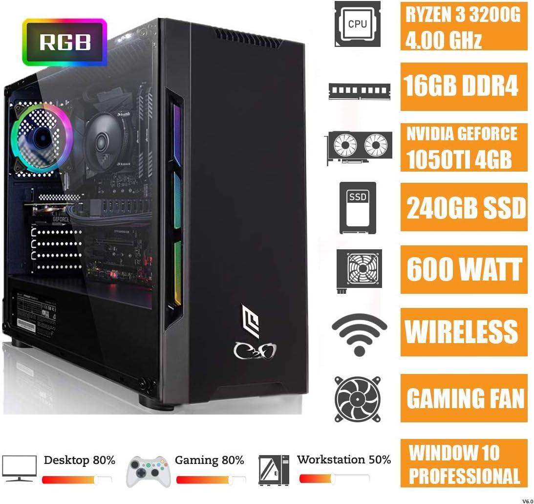 CEO Zeta V4 - Pc Gaming - Ryzen 3 3200G Quad Core 3.60GHz 4MB ...