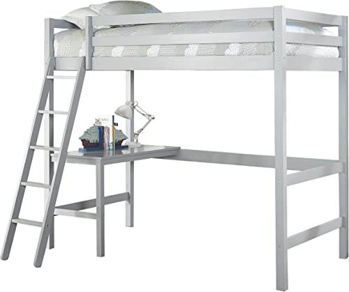 Hillsdale Furniture Hillsdale Caspian Twin Loft Bed, Gray