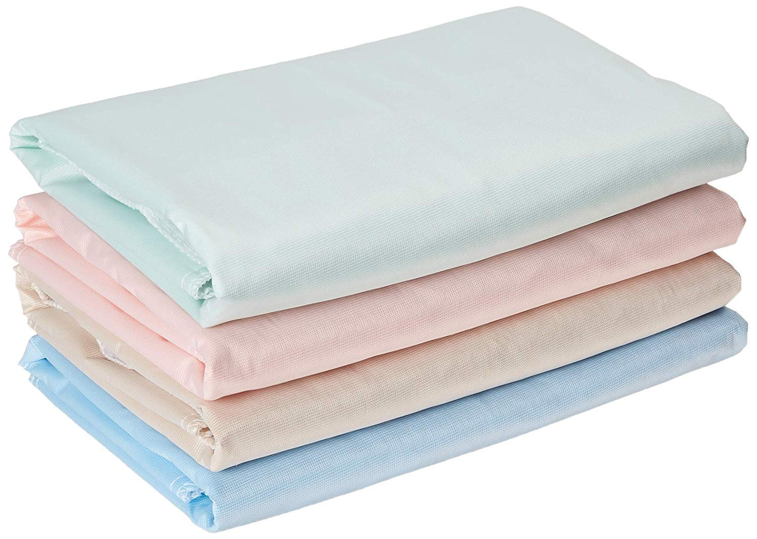 4 PACK Washable Bed Pads/Reusable Incontinence Underpads 24 x 36 - Blue, Green, Tan and Pink - Ideal for Children and Adults Wholesale Incontinence Protection / Cloth Chucks Bed Pads Washable