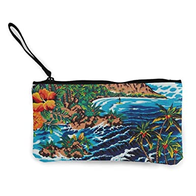 Amazon.com: Hawaii acuarela pintura monedero de viaje ...