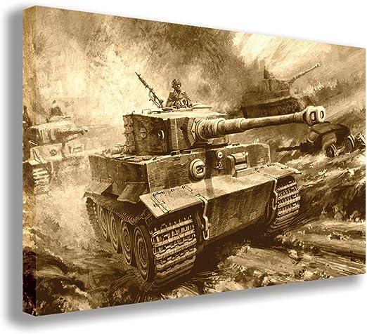 Large Vintage Retro Military Weapons Gun Tank Poster Decoration Wall Print Art