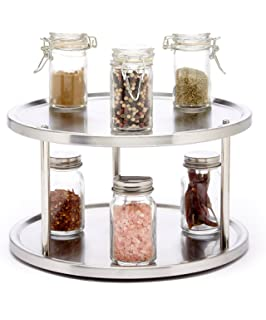Attractive Sagler 2 Tier Lazy Susan Turntable 360 Degree Lazy Susan Organizer Use For  A Spice