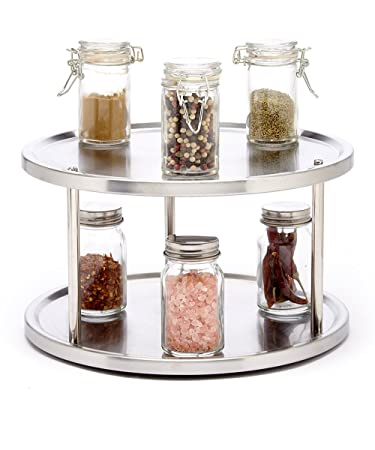 Amazing Sagler 2 Tier Lazy Susan Turntable 360 Degree Lazy Susan Organizer Use For  A Spice