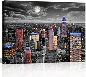 Black and White Wall Art for Bedroom Bathroom Wall Decor New York City Wall Art Framed Landscape Artwork Modern Canvas Print Art for Office Home 12x16