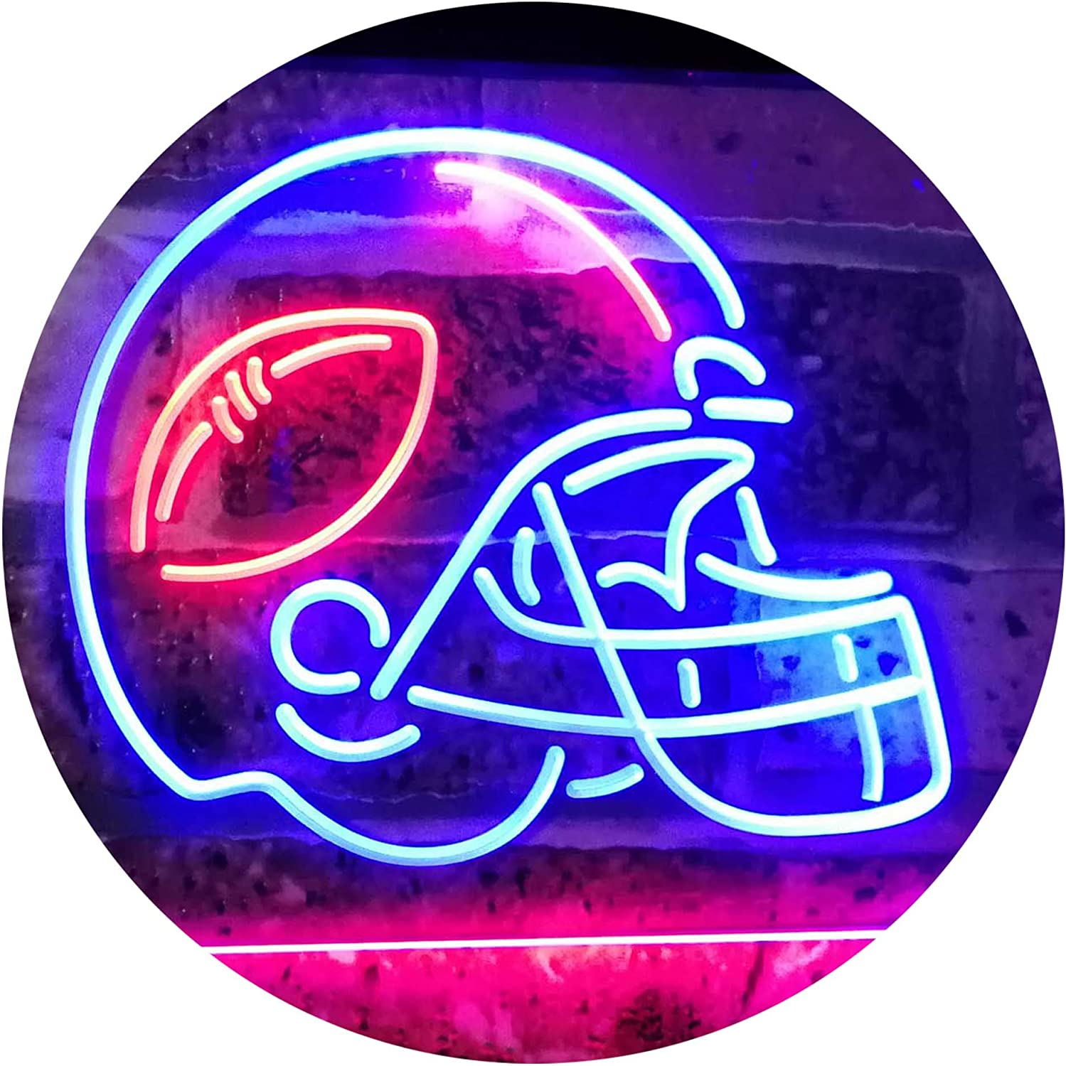 A surprise price is realized ADVPRO American Football Sport Man Max 78% OFF Cave Sign Dual Color Neon LED