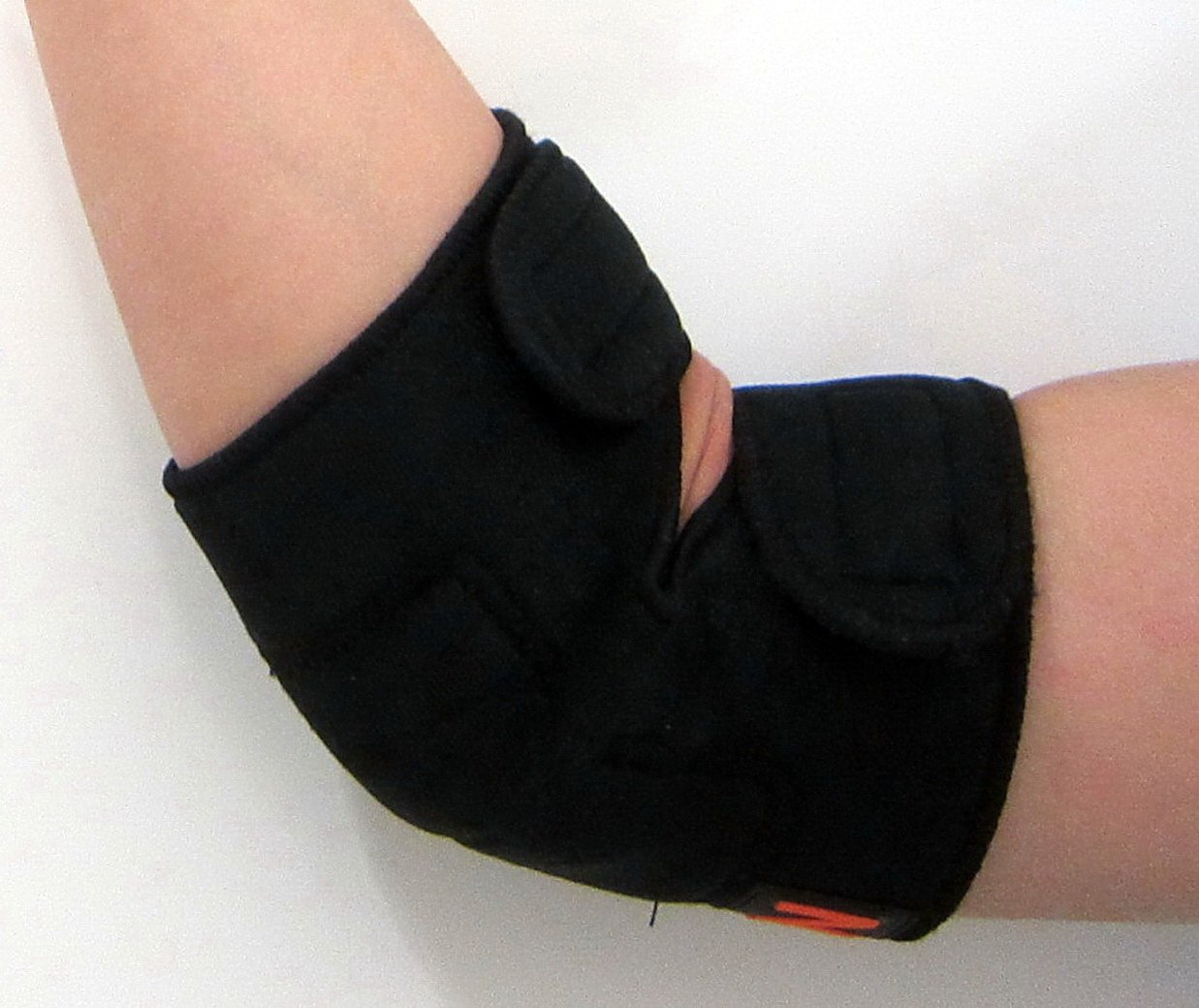 NMT Elbow/Ankle Brace ~ Arthritis, Joint, Pain Relief, Support ~ New Tourmaline Healing Remedy for Tennis Elbow and Swollen Ankles ~ Natural Physical Therapy ~ Adjustable Black Wrap for Men and Women