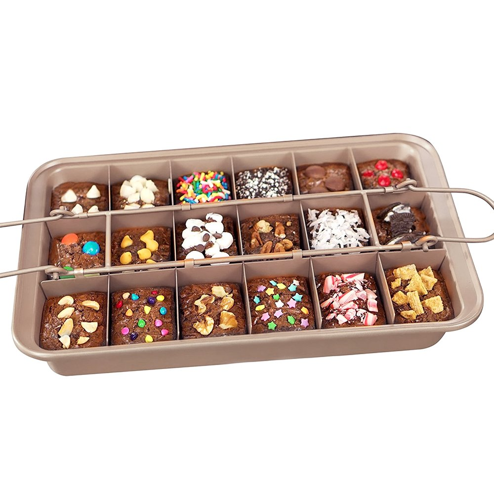 Non-stick Brownie Pan Tin with Dividers