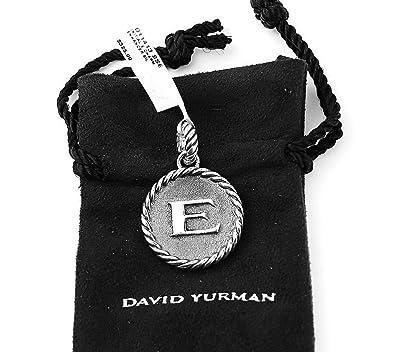 Amazon david yurman amazing solid sterling silver initial e 23 david yurman amazing solid sterling silver initial e 23 mm round pendant aloadofball Choice Image