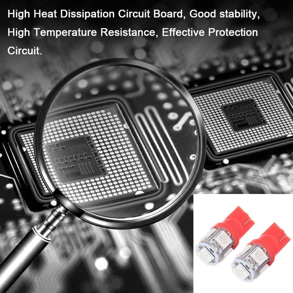 10 cciyu white T10 5-5050-SMD PC194 LED Bulb Instrument Panel Cluster Dash Light Twist Lock Socket