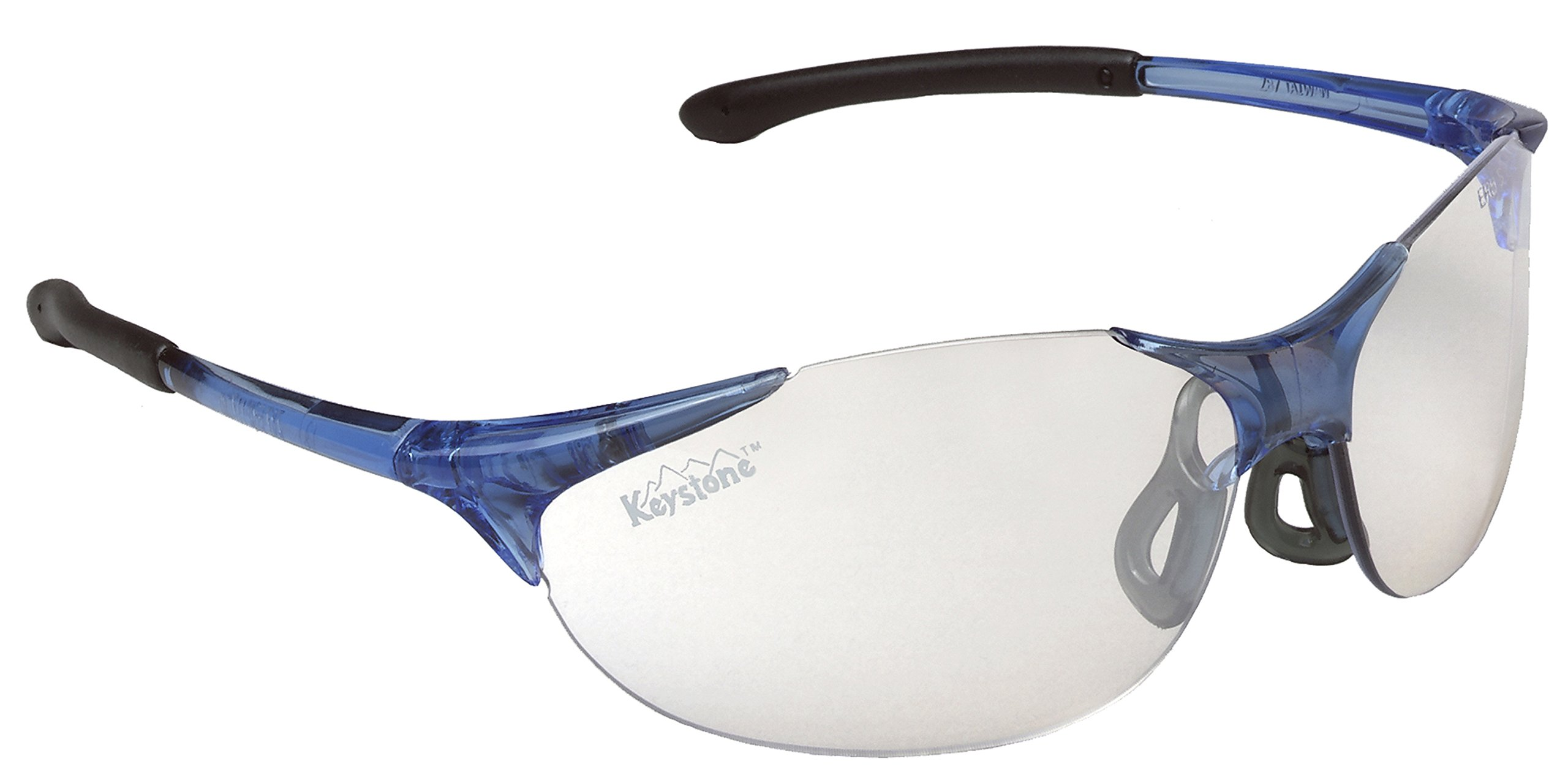 ERB 16810 Keystone Safety Glasses, Blue Frame with Clear Lens