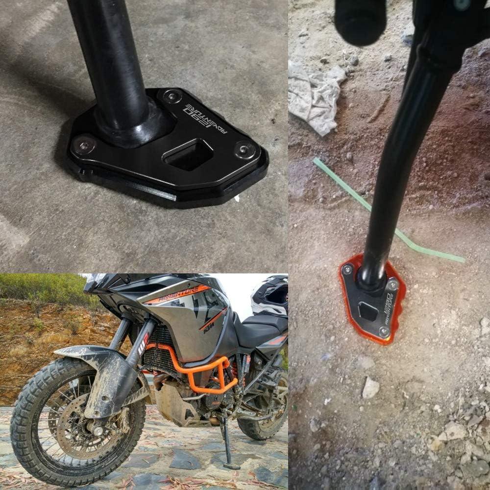 Motorrad Seitenständer Unterstützung Vergrößern Fuß Verbreiterung Ständer Platte Teller Pad Cnc Gefrästem Aluminium Für 1050 1090 1190 1290 Adventure Adv Auto