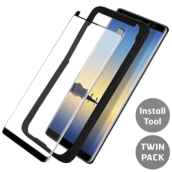 86c378de29b Samsung Galaxy Note 8 Case Friendly Screen Protector - Tempered Glass -  Case Compatible Protection -