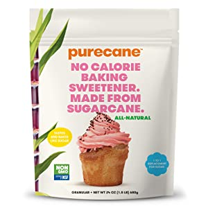 Purecane Sugar Substitute Baking Sweetener | Zero Calorie | Made from All Natural Sugar Cane | Diabetes-friendly | Keto-friendly | Gluten-free | 24 Ounce Pouch
