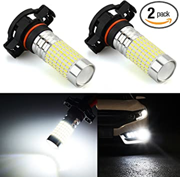 Amazon Com Jdm Astar 1200 Lumens Extremely Bright 144 Ex Chipsets Psx24w 2504 Led Fog Light Bulbs With Projector For Drl Or Fog Lights Xenon White Automotive