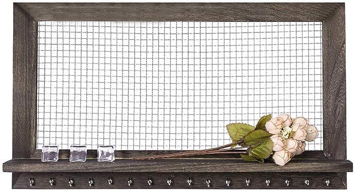 Applique Murale Porte-Bijoux Organiseur avec Amovible Bracelet Rod Colliers et Porte-Bracelets. Boucles doreilles MerryDate Pr/ésentoir /à Bijoux Organisateur de Bijoux Rustique
