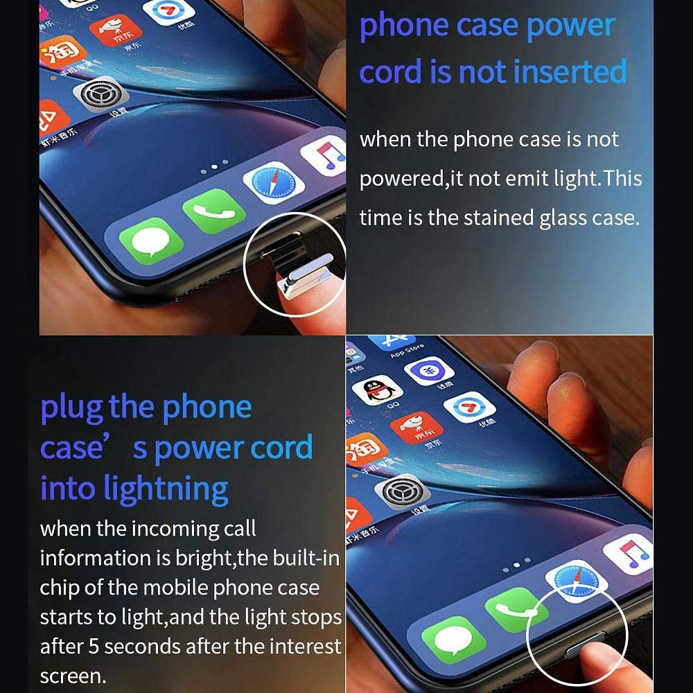 Naruto Sasuke Call Smart LED Luminous Anime Phone Case for Iphone 7 8 6s 6 s Plus X Xr Xs Max Marvel Glowing Glass Cover for 11 pro max TPU+PC Silicone Case Naruto Sasuke Call Smart LED Luminous Anime Phone Case pour Iphone 7 8 6s 6 s Plus XXX Xs Max Marve