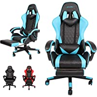 AUSELECT Gaming Chair Ergonomic Computer Chair Racing Style Height Adjustment, Headrest and Lumbar Support E-Sports…