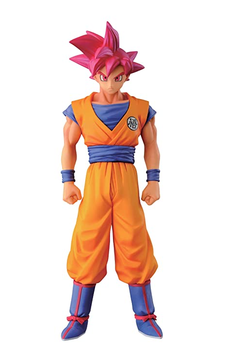 Action & Toy Figures Dragon Ball Z Goku Figure Toy Super Saiyan God Red Hair Son Gokou Anime Dbz Model Doll