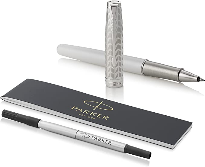 Black Lacquer with Palladium Trim Gift Box Fine Point Black Ink Parker Sonnet Rollerball Pen