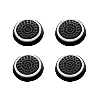 Insten [2 Pair / 4 Pcs] Wireless Controllers Silicone Analog Thumb Grip Stick Cover, Game Remote Joystick Cap for PS4 Dualshock 4/ PS3 Dualshock 3/ PS2 Dualshock/ Xbox One/ Xbox 360, Black/White